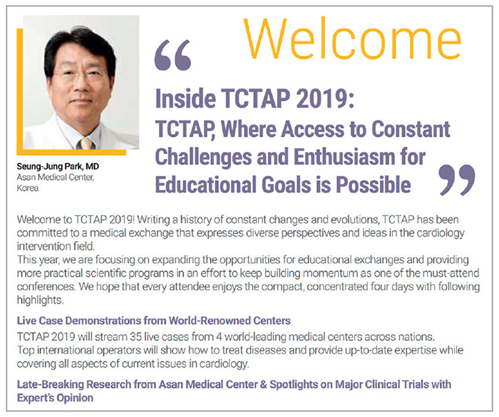 Figure 1. Welcoming remarks at TCTAP 2019