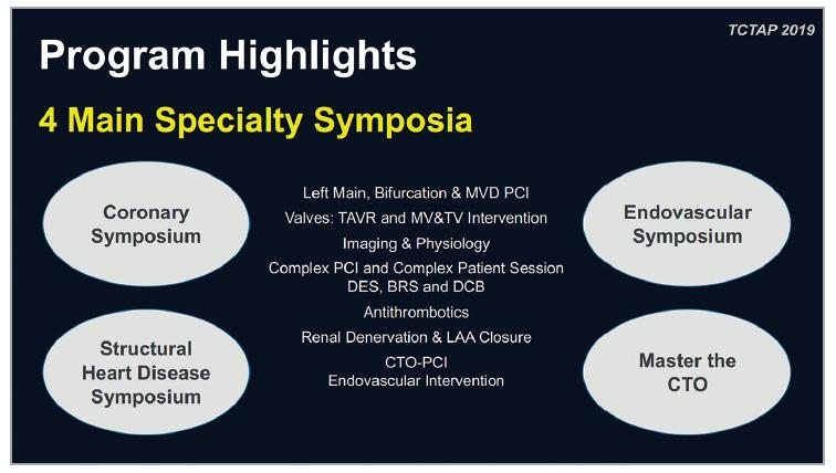 Figure 2. Programme highlights of TCTAP 2019.