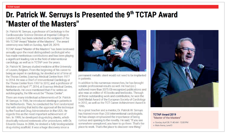 """Figure 3. TCTAP Award 2019 """"Master of the Masters""""."""