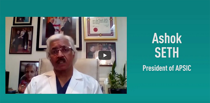 Listen to Prof Ashok Seth, the President of APSIC, presenting Asiaintervention