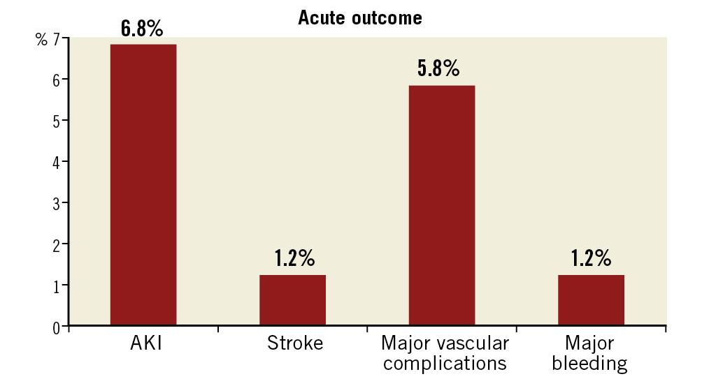 Figure 3. Acute outcomes of post-TAVI patients.